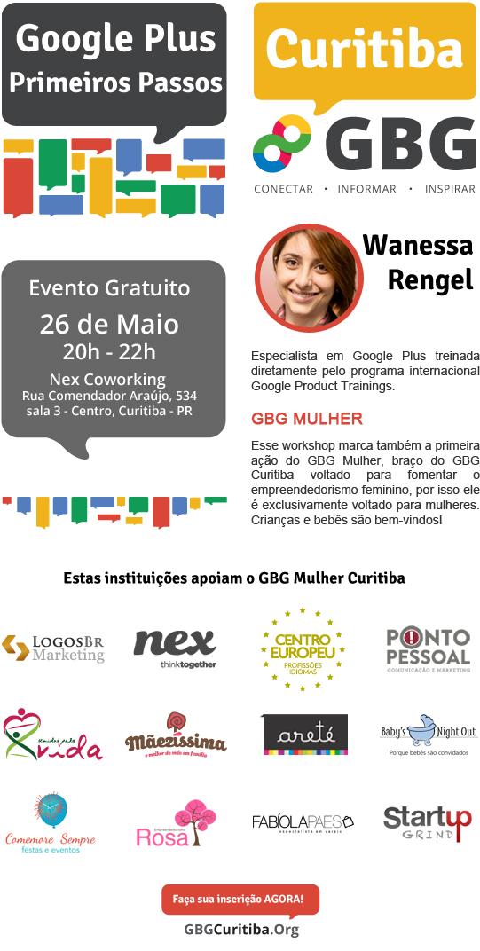 Evento GBG Mulher - Google Plus 26 de maio de 2014