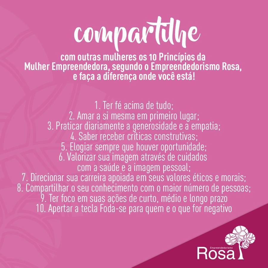 Fonte da Imagem : Empreendedorismo Rosa